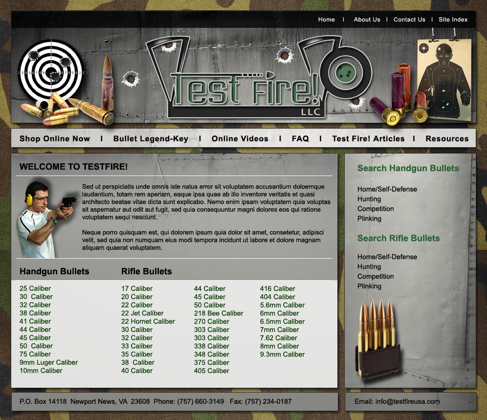 Test Fire! Website Comprehensives